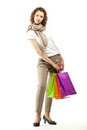 Young woman doing shopping Stock Photos