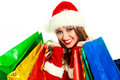 Young woman dressed as Santa Royalty Free Stock Image