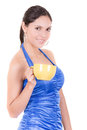 Young woman drinking cofee portrait this image has attached release Royalty Free Stock Image
