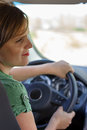 Young woman driving Royalty Free Stock Image