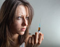 Young woman with drug addiction Royalty Free Stock Photo
