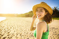 young woman enjoy summer vacation on the beach Royalty Free Stock Photo