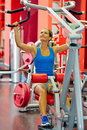 Young woman exercising in the gym healthy Royalty Free Stock Image