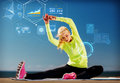 Young woman exercising outdoors Royalty Free Stock Photo