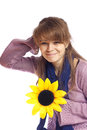 Young woman with flower Royalty Free Stock Photography