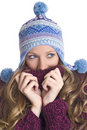 Young woman is freezing Royalty Free Stock Image