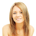 Young woman with friendly smile Royalty Free Stock Photo