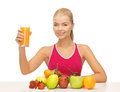 Young woman with glass of orange juice picture Stock Photography