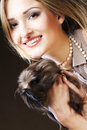 Young woman with Guinea pig Royalty Free Stock Photo