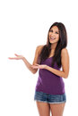 Young woman hand gesturing Royalty Free Stock Image