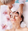 Young woman having massage. Royalty Free Stock Photos