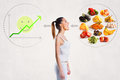 Young woman and a healthy diet concept Royalty Free Stock Photo