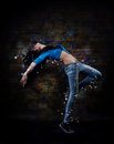 Young woman hip hop dancer Royalty Free Stock Photo