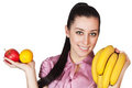 Young woman holding fruit Royalty Free Stock Image