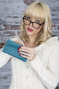 Young Woman Holding a Purse Royalty Free Stock Photo