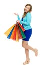 Young woman holding shopping bags Royalty Free Stock Photos