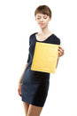 Young woman holding small parcel Royalty Free Stock Photography