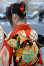Young woman in kimono Royalty Free Stock Photography
