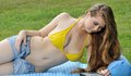 Young woman laying out - summer Royalty Free Stock Photo