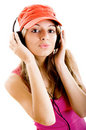 Young woman listen music Royalty Free Stock Photos