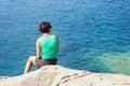 Young Woman Looking At Sea