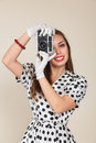 Young woman making photos Royalty Free Stock Photo