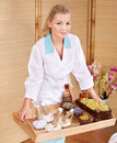 Young woman on massage table in beauty spa. Royalty Free Stock Photo