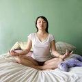 Young woman meditating. Stock Photos