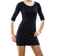 Young woman in mini dress posing Royalty Free Stock Photo