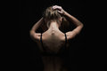 Young woman with naked back.sport body girl Royalty Free Stock Photo