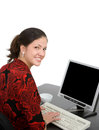 Young woman office worker Stock Photography