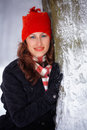 Young woman outdoor in winter Stock Photography