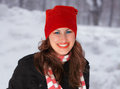 Young woman outdoor in winter Royalty Free Stock Photo