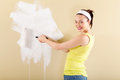 Young woman painting home Royalty Free Stock Photo