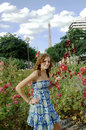 Young woman in Paris park Royalty Free Stock Photo
