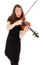 The young woman is playing the violin beautiful Stock Image