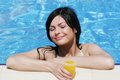Young woman at a pool Stock Photography
