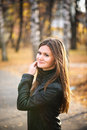 Young woman portrait in autumn Royalty Free Stock Photography