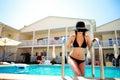 Young woman portrait in bikini Royalty Free Stock Photo