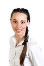 Young woman portrait of with braid Stock Photo