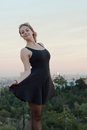 Young woman posing in the hollywood hills is Stock Photos