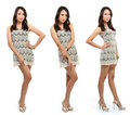 Young woman posing isolated over white background Royalty Free Stock Photo