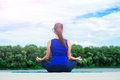 Young woman practicing advanced yoga02 Royalty Free Stock Photo