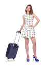 Young woman preparing for vacation Stock Photo