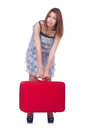 Young woman preparing for vacation Royalty Free Stock Photo