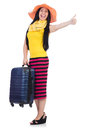 Young woman preparing for vacation Stock Images
