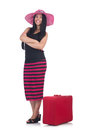 Young woman preparing for vacation Royalty Free Stock Photography