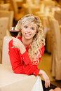 Young woman with red wine Stock Photography