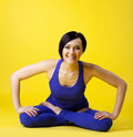 Young woman relax in happy yoga Stock Photo