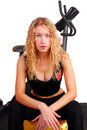 Young woman resting after workout Royalty Free Stock Images